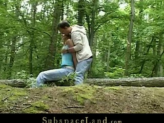 Skinny legal years teenager Claudie is Slavemaster's sex-toy this day.  A valuable walk outdoor in the woods must be combined with a worthy hard fuck upon his kinky mind. Bound by the trees that babe will fulfill his odd dream