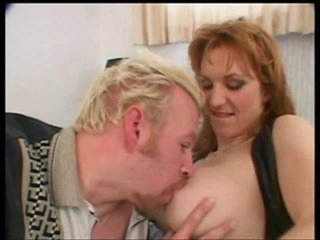 Milf redhead with nice titties rammed in the arse