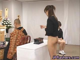 Asian girls go to church half undressed part5