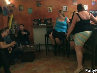 Fat chicks have joy in the pub !