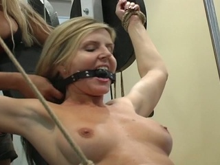 2 blondes in bdsm fucking style
