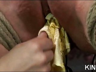 Lusty Playgirl in Bondage