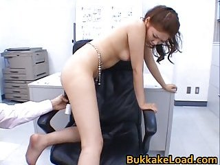 Aya Matsuki gets toyed in office