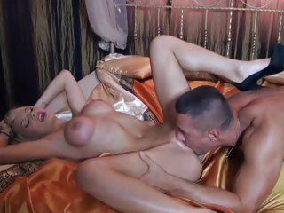 Stunning blonde loves getting her moist pussy eaten