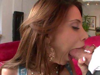 Raunchy Alexa Nicole chokes on a stiff fuck pole