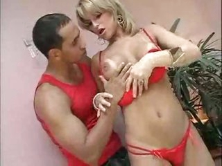 Erotic play with a Latina shemale