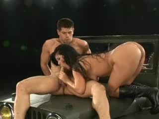Blasting her pussy and ass with his big cock